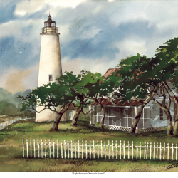 Lighthouse at Ocracoke Island